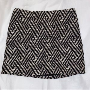 H&M Textured Printed Mini Skirt